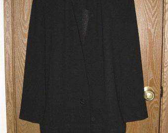 Liz Claiborne Size 8 Black Long Sleeve Dress