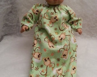 """Owl Baby Doll Bunting - Fits 15"""" Bitty Baby and all other 15"""" Dolls"""