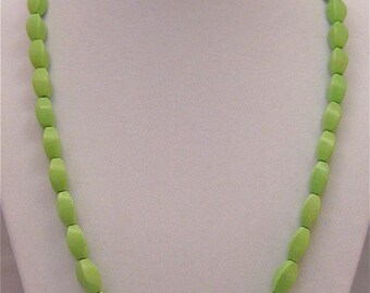 Lime Magnesite and Sterling Silver Necklace