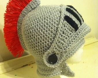 Crochet Knight's Helmet