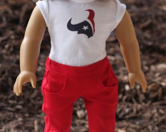 Stretch Denim Jeans for 18 inch dolls - Bright Red