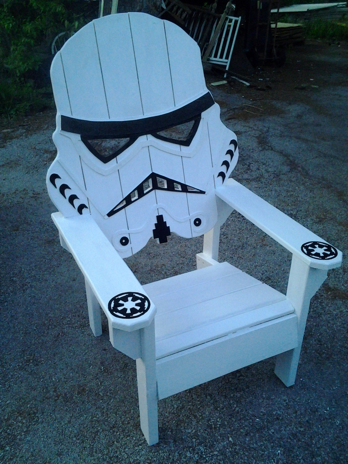 Wood Skull Lawn Chairs ~ Star wars storm trooper chairadirondack chair yard