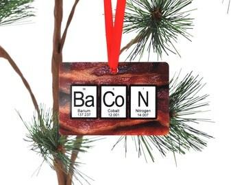 Bacon Periodic Table Christmas Ornament