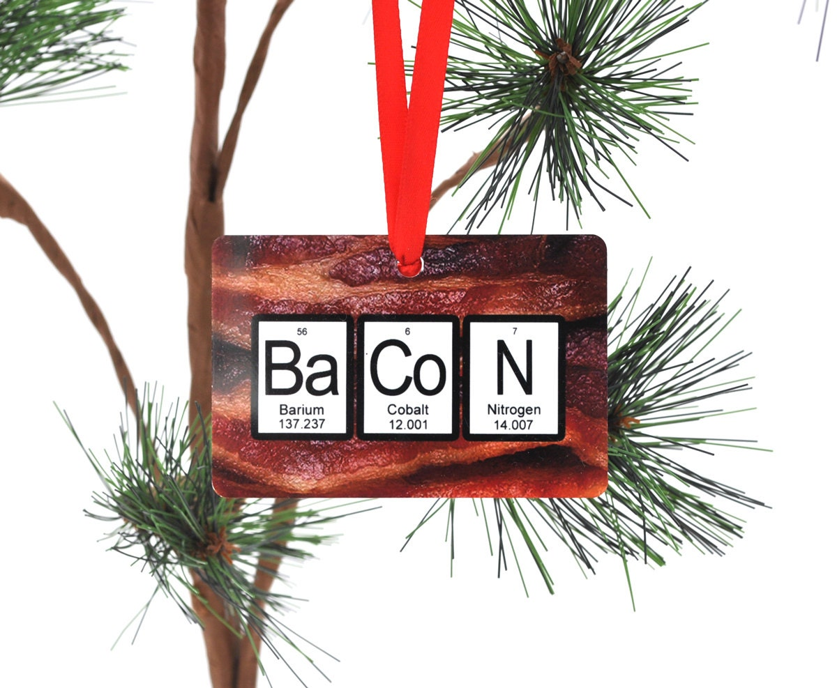 Bacon periodic table christmas ornament description bacon periodic table christmas ornament gamestrikefo Gallery
