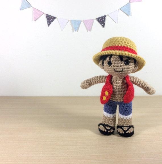 Amigurumi One Piece : Monkey D Luffy Amigurumi Crochet Plush Doll by 53Stitches ...