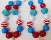 Thing 1 and Thing 2 Necklace Set
