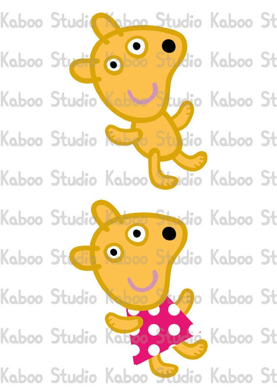 Printable Peppa Pig's Teddy Inspired party decoration - centerpiece ...