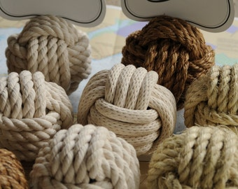 Nautical Wedding Table Knot Number Holders (per knot, 4 different types of rope)