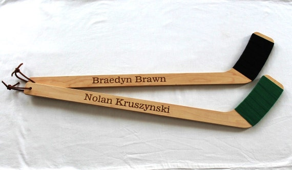 Engraved Mini Hockey Sticks