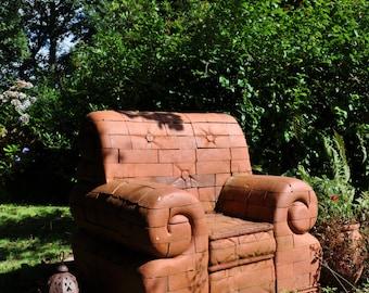 Community Seat II  Brick Armchair