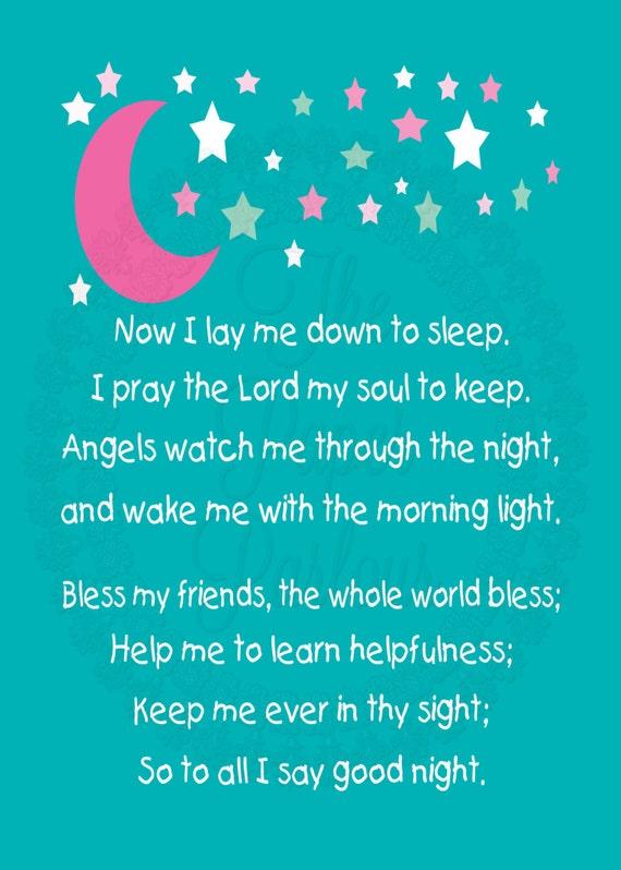Children S Bedtime Prayer Art Print By Thepaperparlourcom
