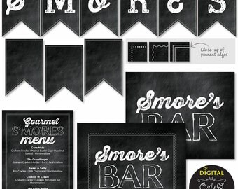 S'mores Bar Printables