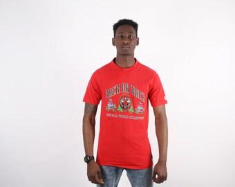 90s Chicago Bulls T-Shirt - Chicago Bulls  - NBA Basketball T-Shirt   - Nutmeg T-Shirt - 1457