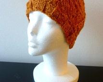 Harley hat ~ orange beaufort winter hat