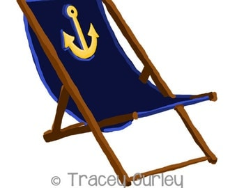 Clip Art Beach Chair Clipart beach chair clip art etsy navy with anchor and without sand original 3 files printable