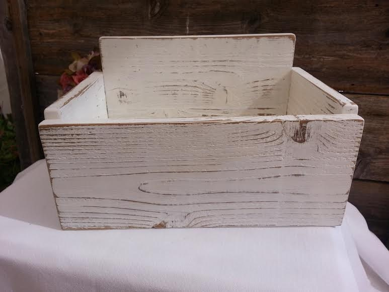 DIY Rustic Distressed Card Wedding Box Holder Shabby Chic Do