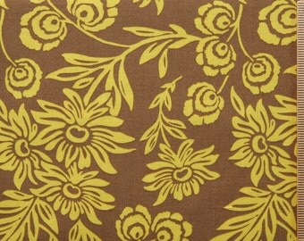 Joel Dewberry fabric Modern Meadow Daisies JD35 SUNGLOW brown yellow gold floral 100% Cotton fabric Sewing Quilting Fabric by the yard