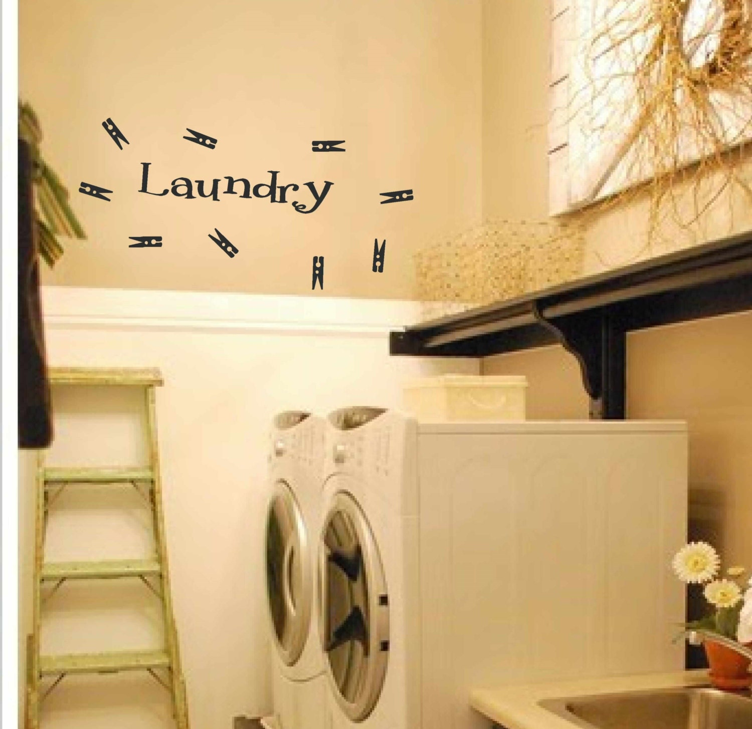 Laundry room decor laundry wall decal laundry with 9 for Laundry room wall art