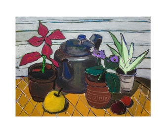 Still Life  (Original painting) oil painting, free shipping, 30 x 40 cm