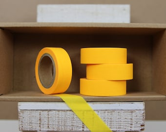 Washi Tape - solid neon yellow/ bright yellow - N03