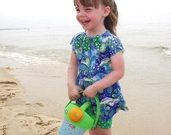 Modest Swimsuit for Little Girls - CUSTOM SIZED - Toddlers Swimwear