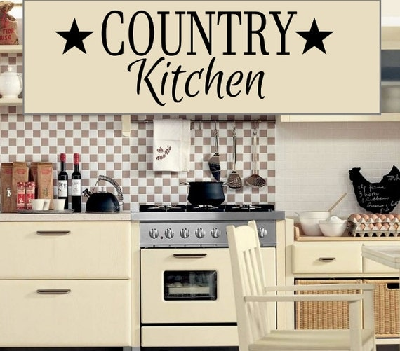 Country Kitchen Removable Vinyl Wall Decals Easier Than