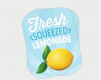 Printable Lemonade Labels - Farm Animal Birthday Party
