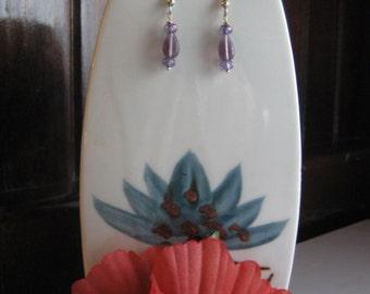 Lavender Glass Bead Dangles
