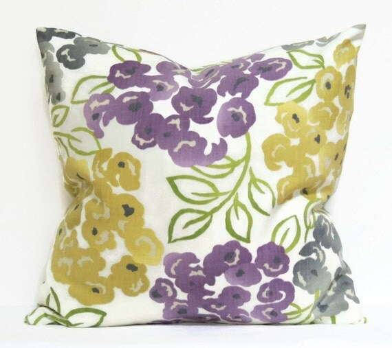 Purple And Gray Decorative Pillows : Purple and Gray Pillow Cover 16x16 Pillow Cover by ThePillowToss