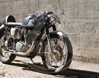 Vintage Motorcycle Photo - Vintage Honda cb450 Cafe Racer (Black Bomber)