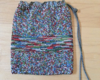 1920s Colorful Beaded Purse