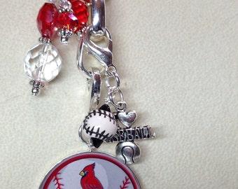 St. Louis Cardinal Charms Detachable Necklace