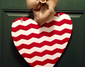 Valentine Heart Wooden Door Hanger