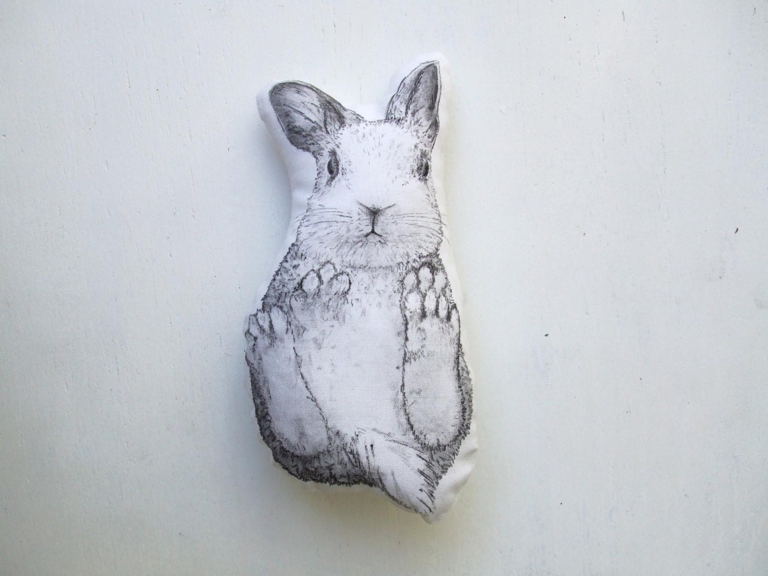 Http Etsyfind Wordpress Com 2014 03 07 White Bunny Plush Cute Rabbit Soft Toy Forest Home Decor Black And White Animal Mini Pillow Cute
