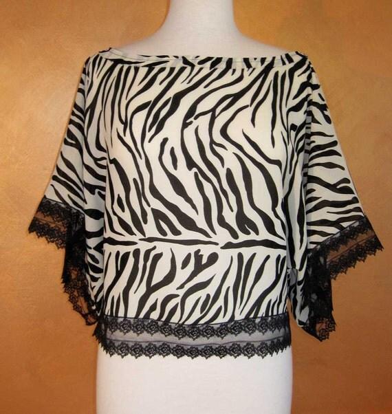 Zebra Print Sheer Blouse 102