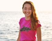 Camiseta de mujer, delfín moteado del Atlántico