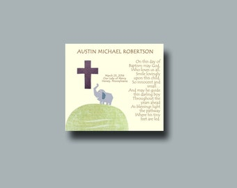 Baptism Gift Boy, Christening Gift, Personalized Baptism gift, Godchild Gift, Baby Boy Gift, Holy Cross, Christening Keepsake - God Bless