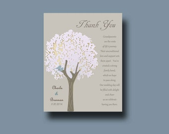 Wedding gift for Grandparents from Bride & Groom, Tree Gift, Thank you Wedding Gift, Custom Grandparent Gift, Family Gift - Grandparent Gift