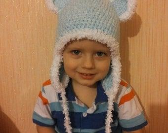 Hand crochet beanie for kids