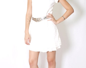 Short White Dress - Heaven Sent Dress - S