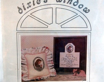 Dixie's Window Featuring Beehive Symbol & Mission Statement Vintage LDS Cross Stitch Pattern 1989