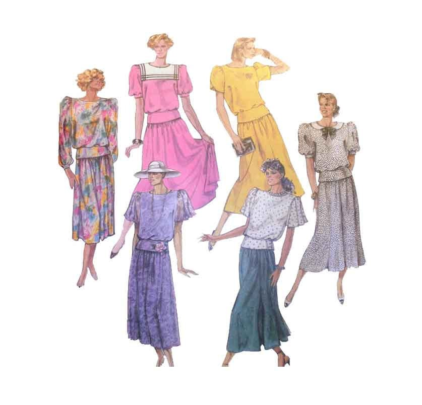 s pullover top midi skirt sewing pattern misses