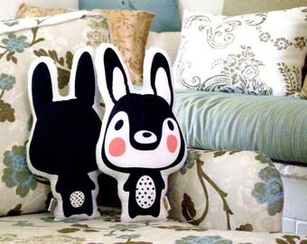 Decorative pillow, Black and white pillow, boys bedding, big pillow, decorative pillow, kids pillow throw