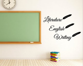 Literature Vinyl Decal - Classroom Decal - Wall Decal - teacher Class Sticker - Class room Decal - Teacher - Class decorations- English