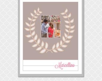 Custom Family MONOGRAM Picture Word - 8x10 - Housewarming gift, loved one gift - EOgdenAve