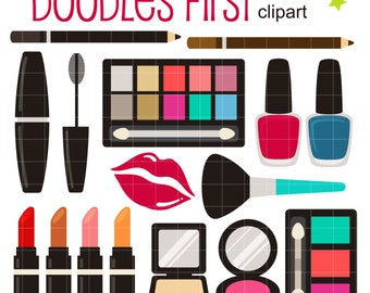 Make Up Kit Digital Clip Art for Scrapbooking Card Making Cupcake Toppers Paper Crafts