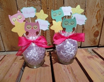 owl decor owl baby shower personalized baby shower decor it 39 s a girl