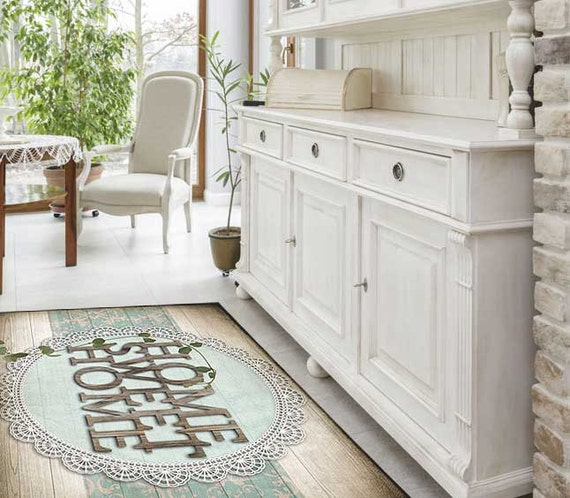 home sweet home welcome rug floor mat for home by. Black Bedroom Furniture Sets. Home Design Ideas