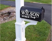 Mailbox Decal~Family Name Decal~Personalized Mailbox~Flower Mailbox~