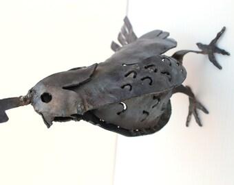 California Quail metal art sculpture for the garden, bird garden art, 3D sculpture, made in the USA